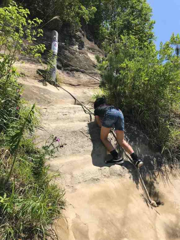 ロマンの森共和国 フィールドアスレチック 岩登り3