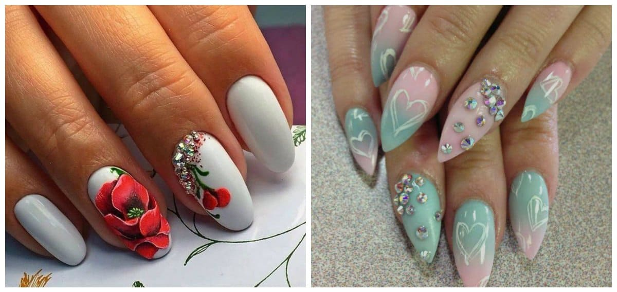 Almond nails 2018: fashionable and interesting almond nail
