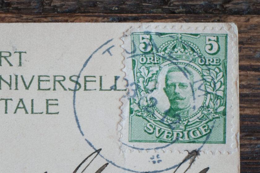 Old Swedish stamp