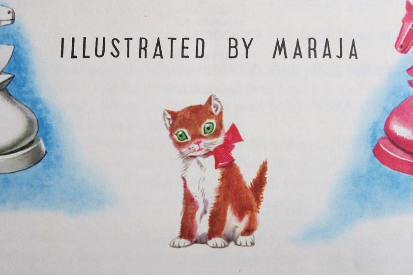 Illustrated kitten
