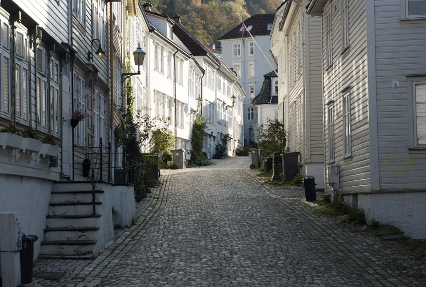 Cobbled streets and wooden houses