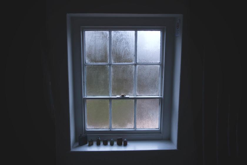 Old misty window