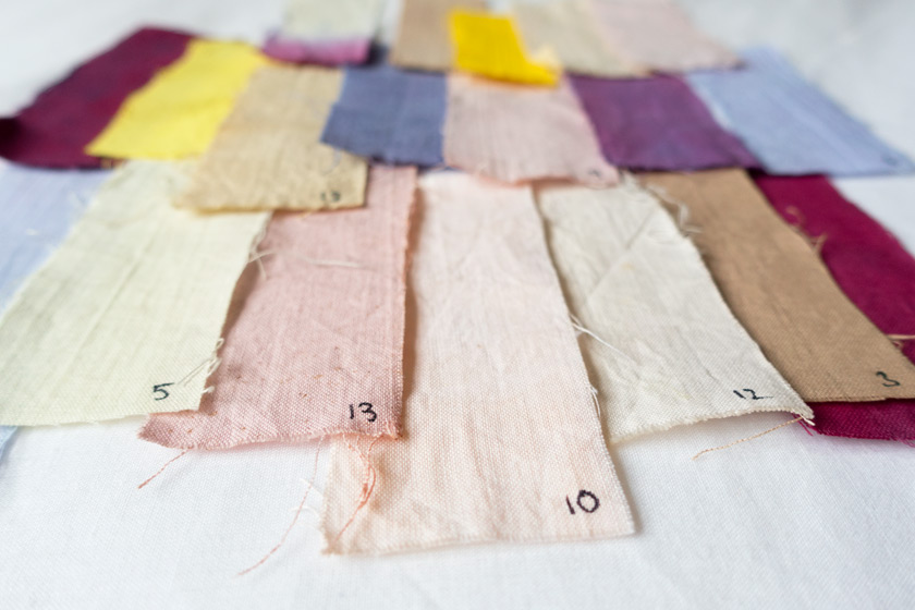 Colourful fabric swatches