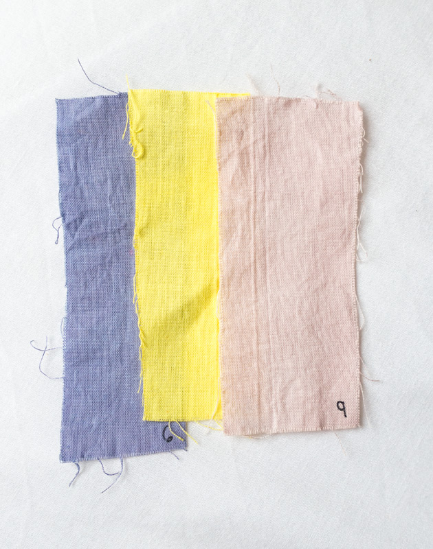 Purple, yellow and pink fabric