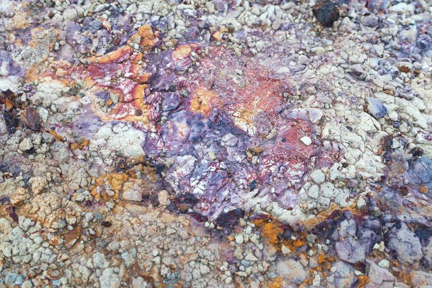 Multicoloured rock