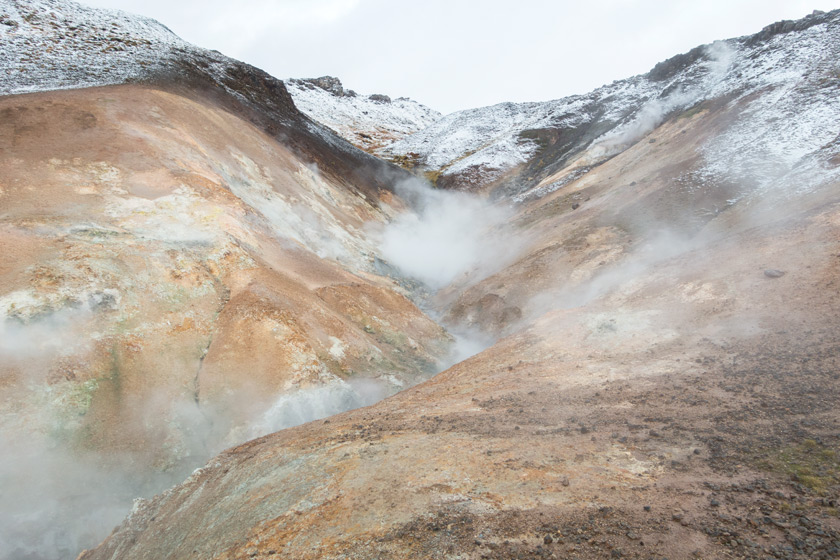 Steaming hot spring