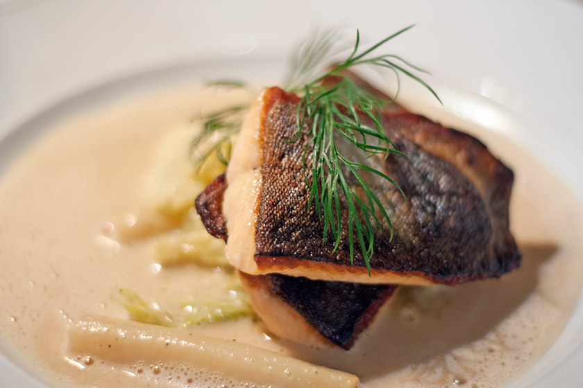 Arctic char with vegetables