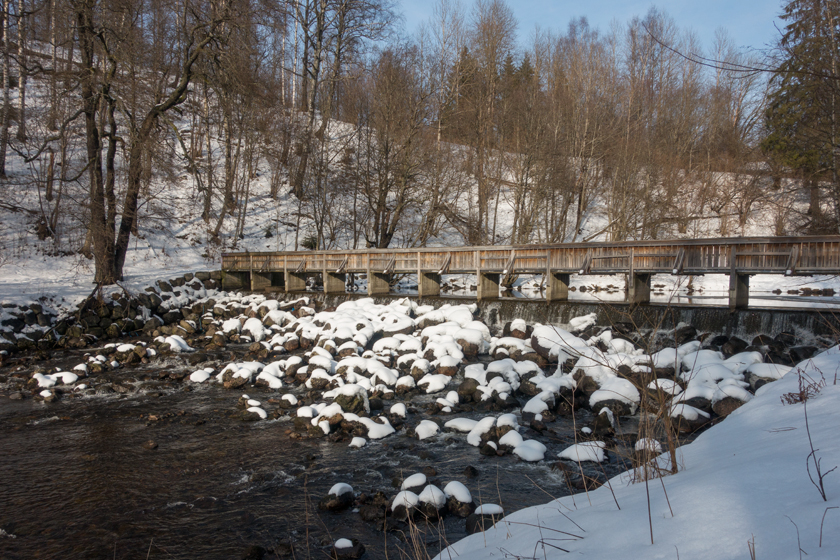 River with snow