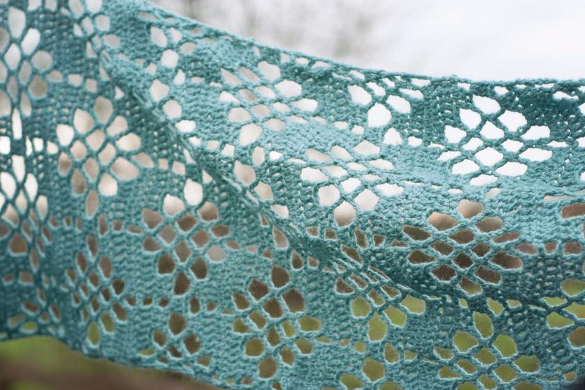 Crochet stitch detail