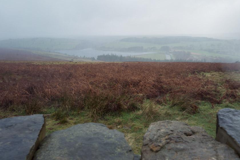 View over wet moorland