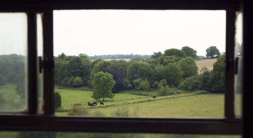 View out of steam train window
