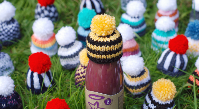Bee style stripy hat for Innocent's Big Knit
