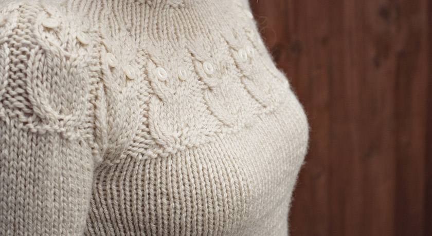 Knitted owl jumper - bust