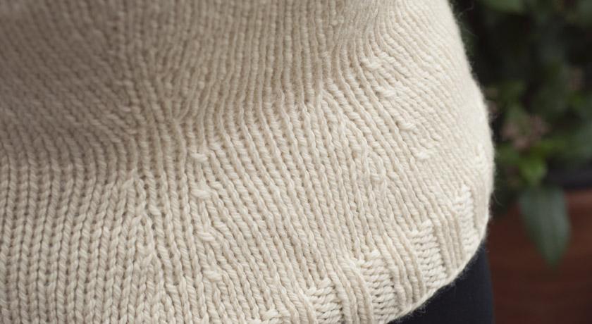 Knitted Owls jumper - back decreases