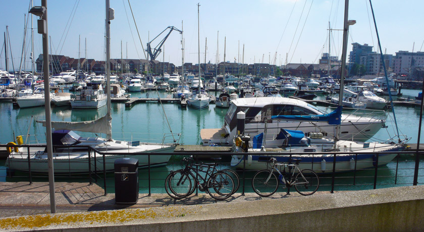 Boats on Southampton Marina