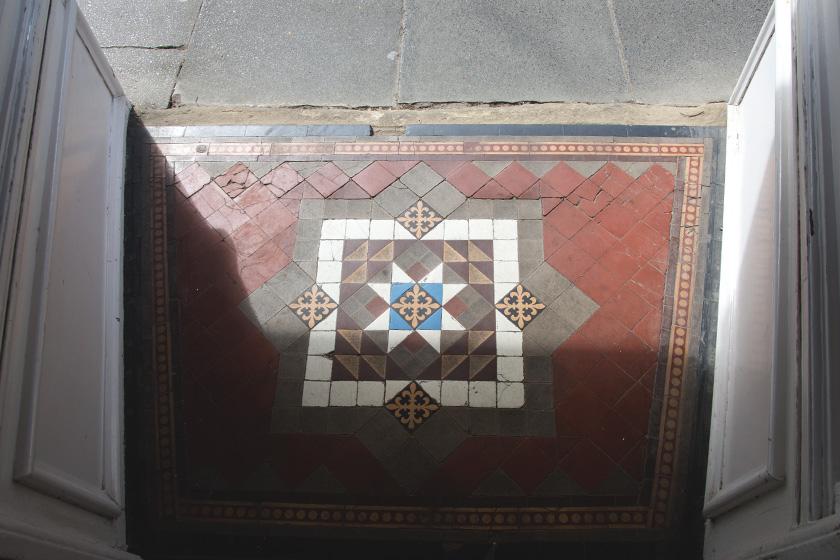 Mosaic doorway