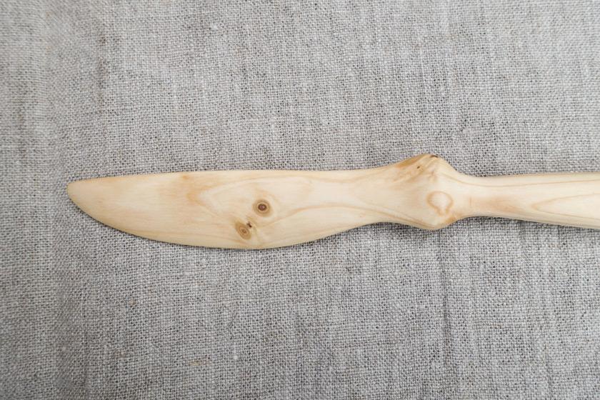 Wooden knife blad