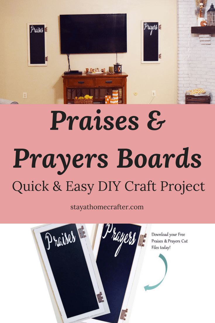 Praise & Prayer Boards are the perfect way to identfiy struggles that need prayers and celebrate the praises of the day! This is the perfect tool for any family! Free printable included to make this project super simple! Repin now for later!