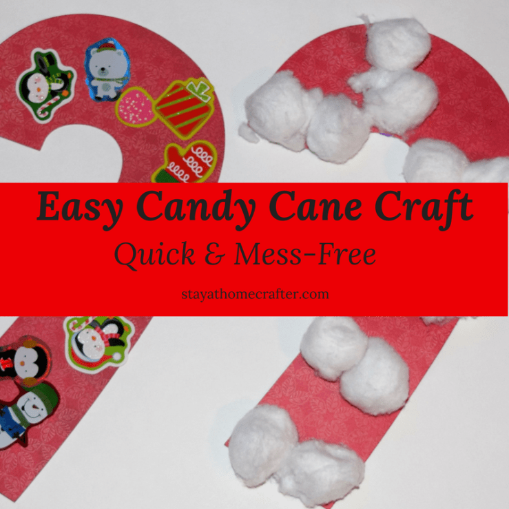 Easy & Mess-Free Candy Cane Craft that is perfect for kids & toddlers! This simple craft only requires 3 simple materials that you probably already have lying around your house. Plus, this is the perfect segway to discussing the origins of the candy cane. A great way to teach little hearts about the true meaning of Christmas! Repin now for later!
