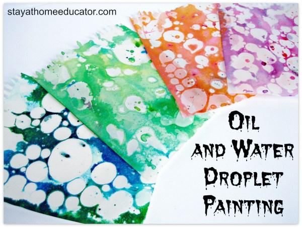 Water Art Projects for Preschool
