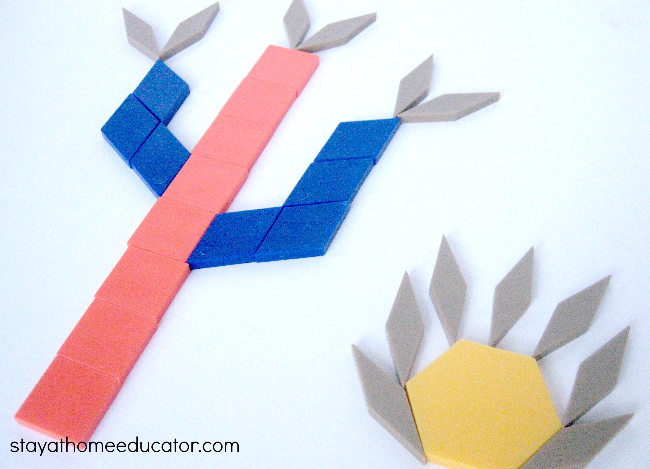 Cactus Pattern Blocks Fine Motor Activity