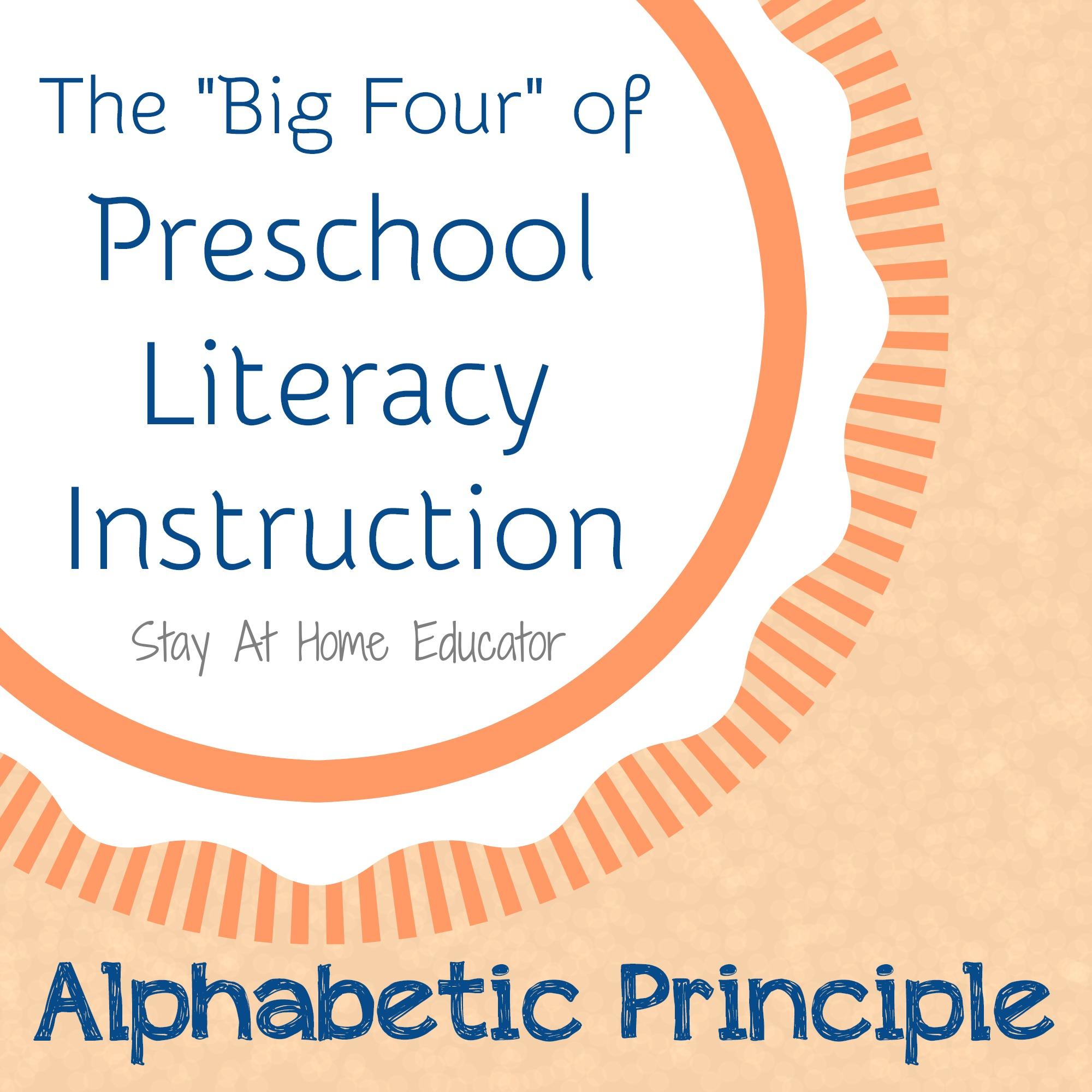 The Big Four Of Preschool Literacy Instruction