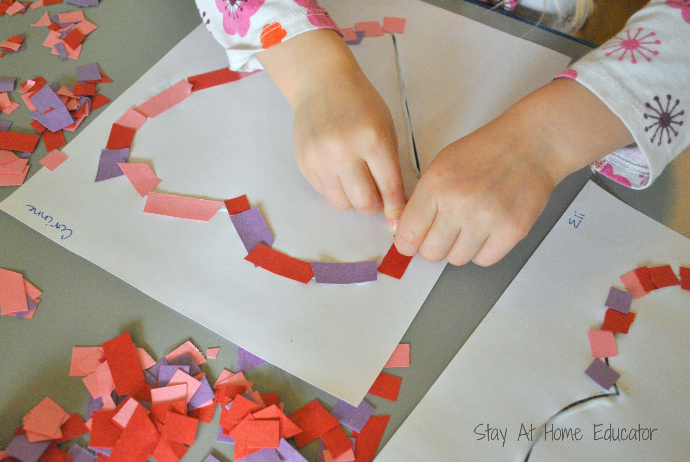 Confetti Hearts Preschool Craft For Valentine S Day