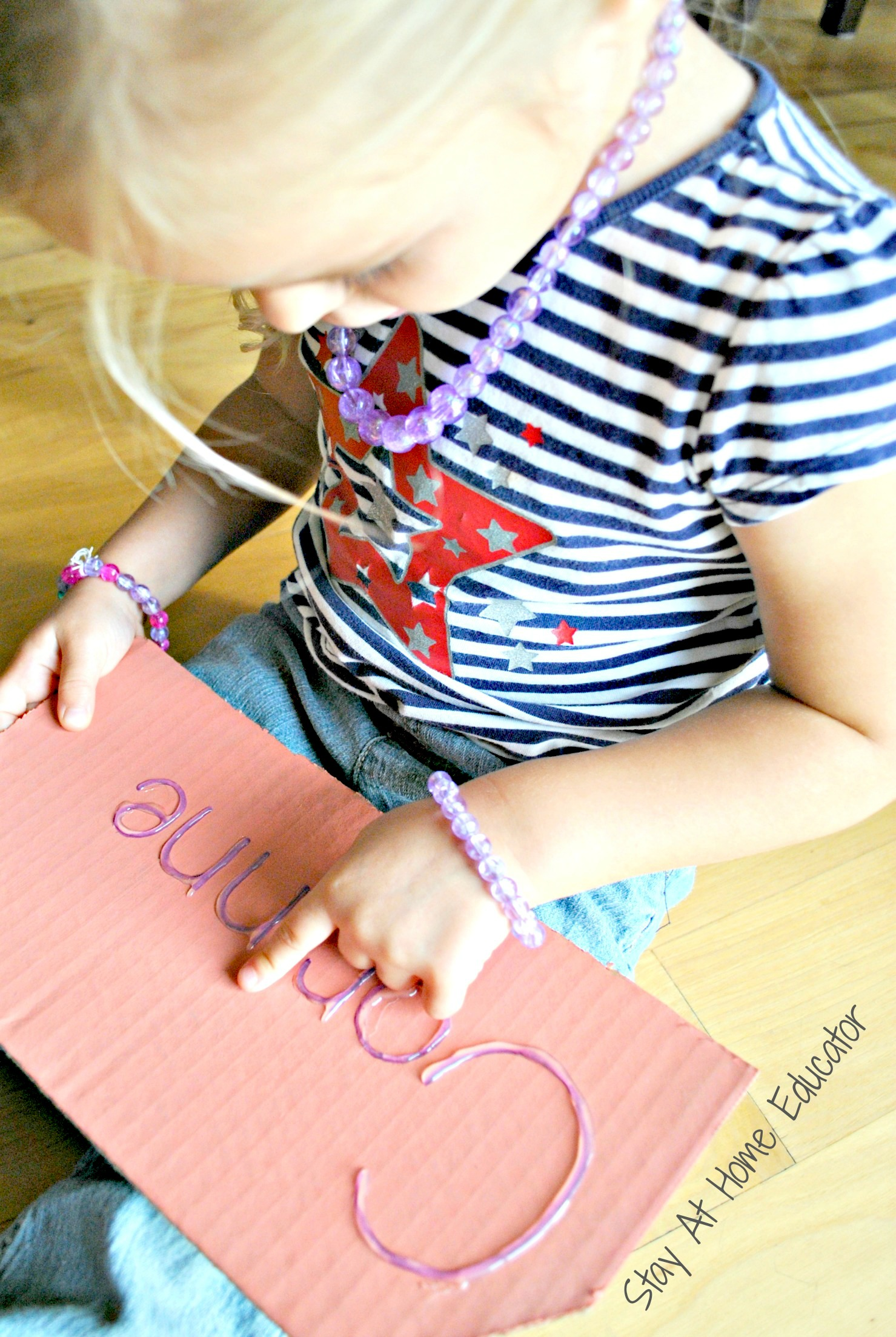 Hot Glue Name Recognition And Writing Activity
