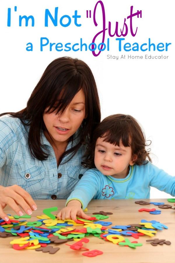 Not Just a Preschool Teacher So Much More