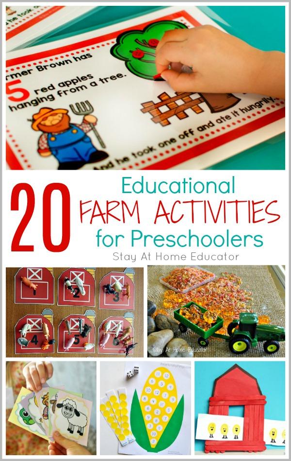 The editors of publications international, ltd. 20 Fun And Educational Preschool Farm Activities