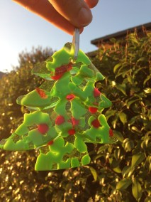 The finished 3d tree from jelly mould