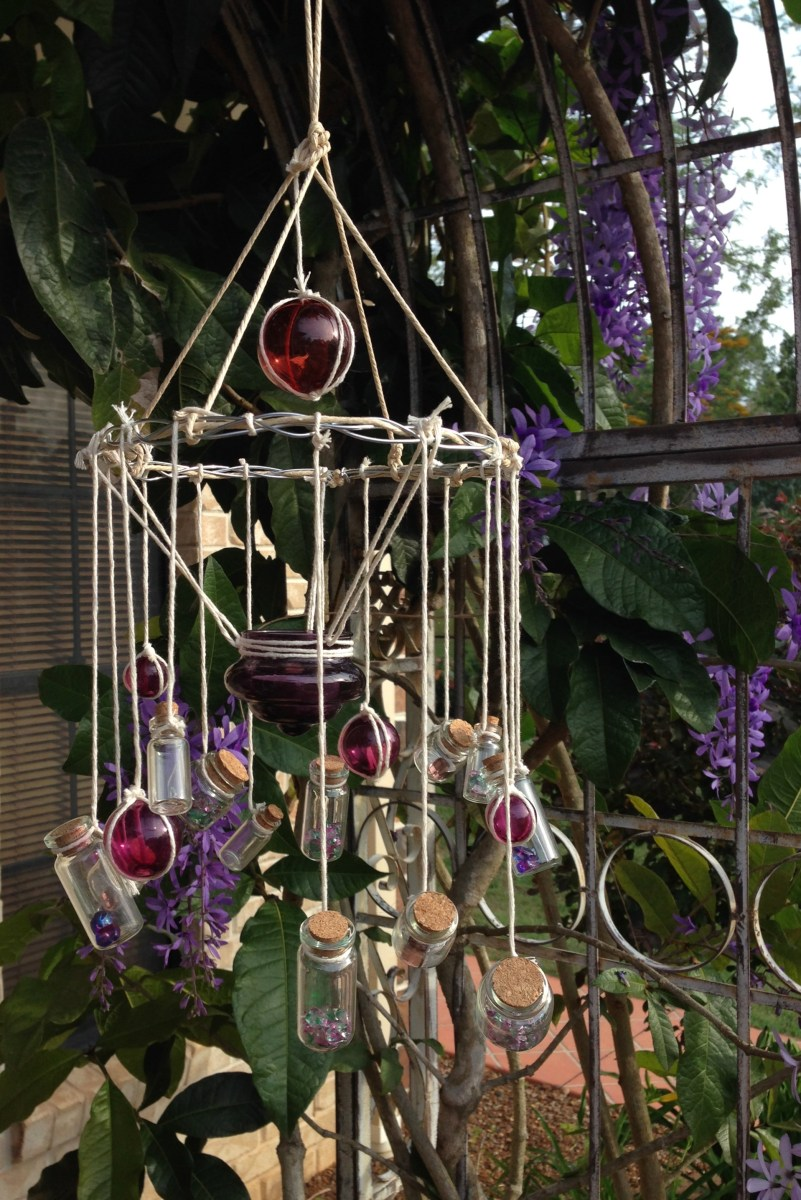 Glass Bottle Wind Chimes