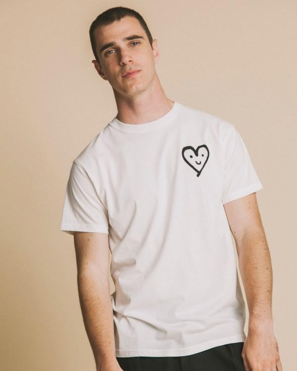 Heart T shirt Thinking Mu