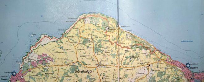 Hiking trail Map: Båstad -Torekov