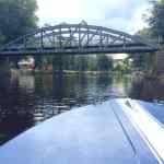 Pyttebro - bridge over Rönneån from our StayCay boat