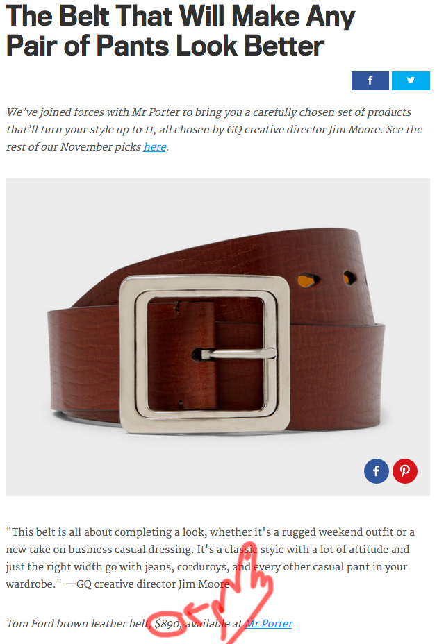 GQ For Me And You - Brown Belt - Stay Classic