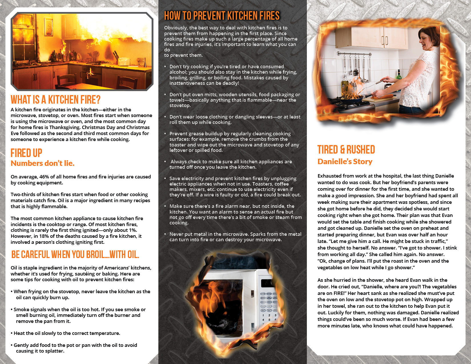 Kitchen Fire Safety Retractable BannerPamphlet Package