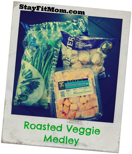 Grab a few extra bags of veggies to make this simple Roasted Veggie Medley.