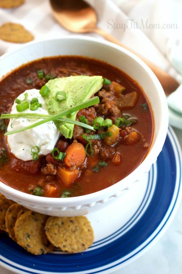 High protein, Paleo, Whole30 approved!  #stayfitmom #easyrecipe #fallrecipe #chili