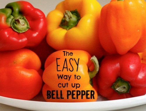 The EASY way to cut up bell pepper! How come I haven't done this all along?