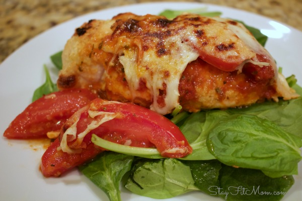 Healthy twist on a traditional chicken parmesan. Grain Free, primal recipe