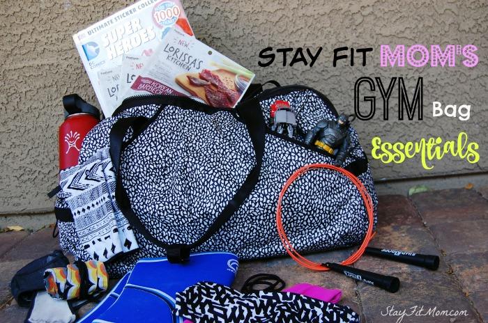 Gym bag essentials for every busy mom from StayFitMom.com