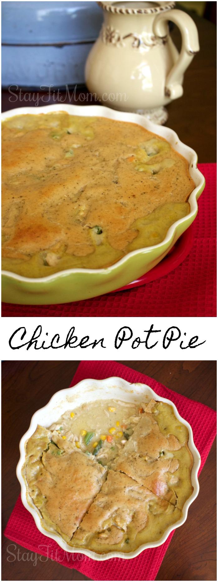 Kodiak Cakes Pancake Mix makes for a great, low fat, Chicken Pot Pie!