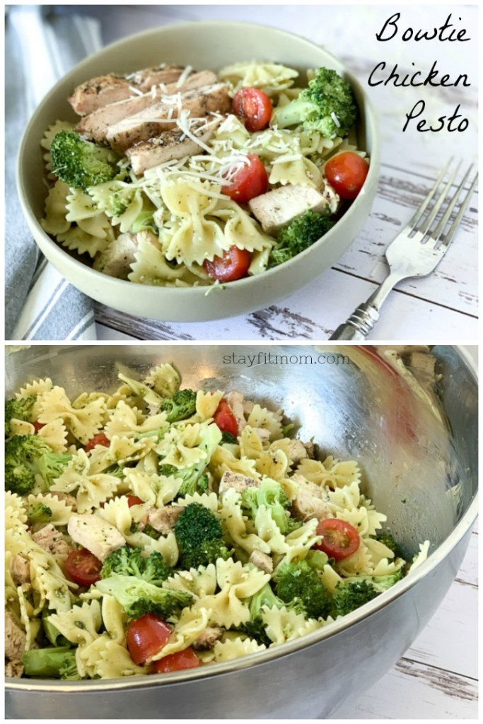 High protein chicken and broccoli pesto. So easy and perfect for weekly meal prep! #stayfitmom #easyrecipe #macrofriendlyrecipe #highproteinrecipe