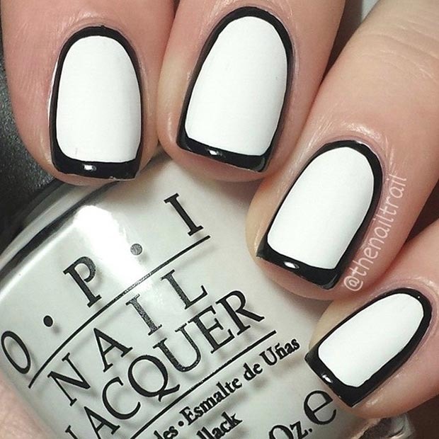Black And White Nail Art Designs Top