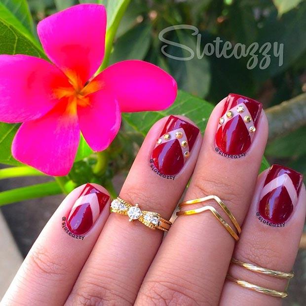 40 Clic Red Nail Art Designs