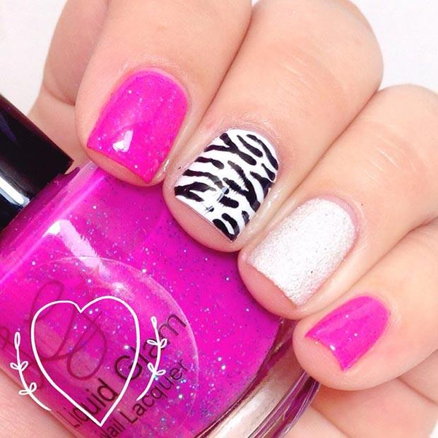 Purple Nail Art Ikat Designs