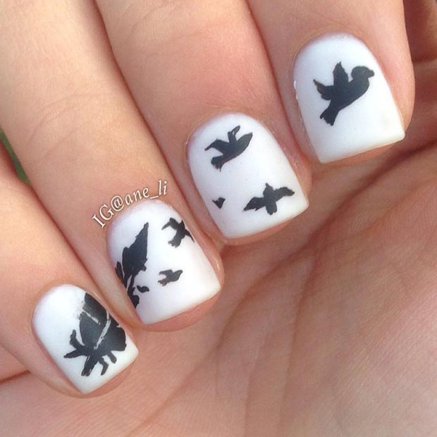 White Matte Nail Design For Short Nails
