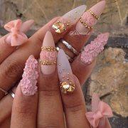 creative stiletto nail design
