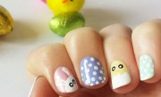 cute nail art design easter